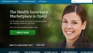 Sitio web del gobierno sobre el Obamacare, HealthCare.gov.
