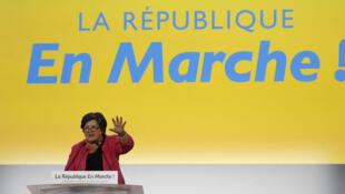La présidente par intérim du parti La République en marche Catherine Barbaroux, le 8 juillet dernier à Paris.
