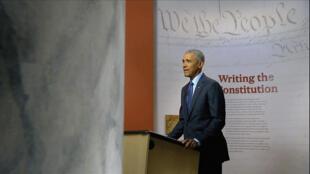 L'ex-président Barack Obama a mené une violente charge contre son successeur lors de son discours à la convention démocrate le 19 août 2020.