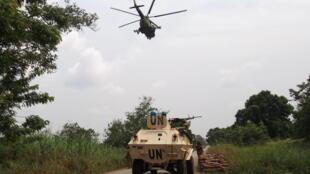 centrafrique boali hélicoptère rca blindé onu