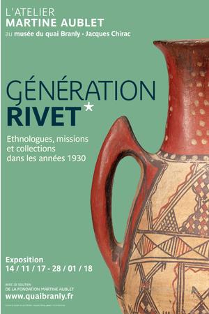Afiche de la exposición consagrada a Paul Rivet en el museo del Quai Branly, París.