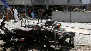 محل حمله انتحاری در کابل. سهشنبه ٧ شهریور/  ٢٩ اوت ٢٠۱٧