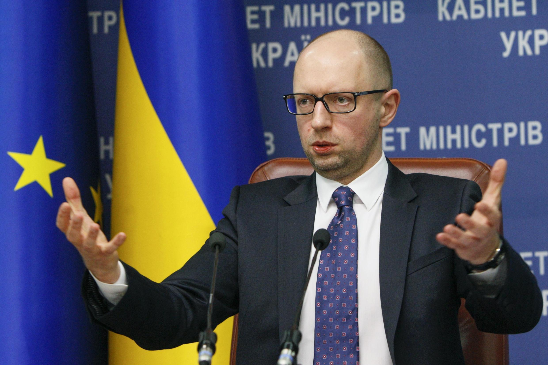 Арсений Яценюк на пресс-конференции в Киеве 14/11/2014