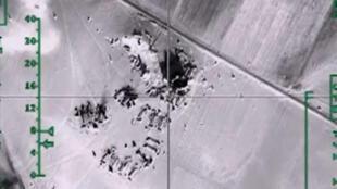 Une image du ministère de la Défense russe, datée du 11 février 2016, montre les bombardements de l'armée russe en Syrie.