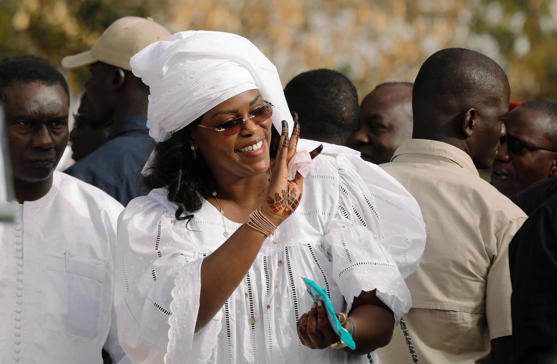 La Première dame sénégalaise Marem Faye Sall le 24 février 2019 à Fatick.