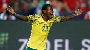 Thembinkosi Lorch scored South Africa's winner against Egypt.