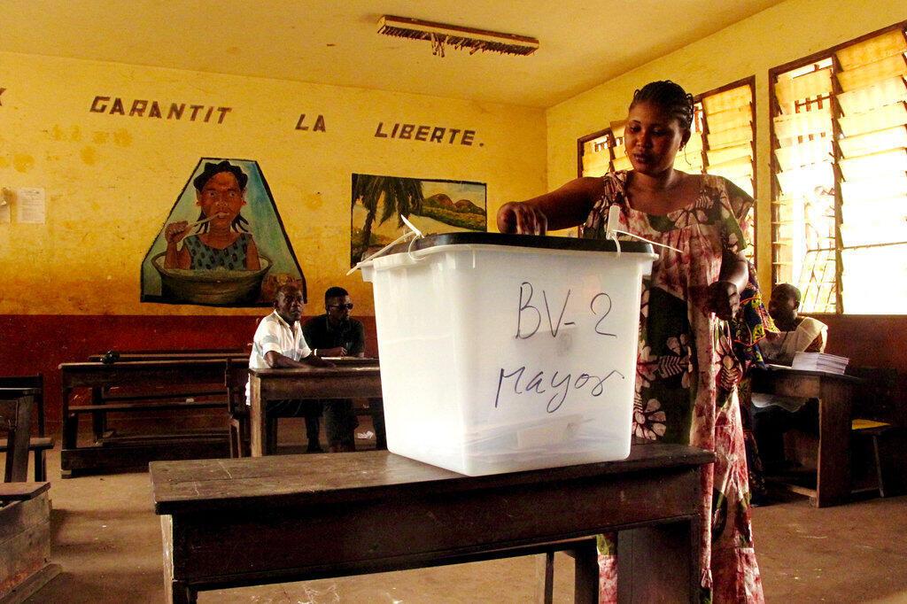Jour de vote à Conakry le dimanche 4 février 2018.