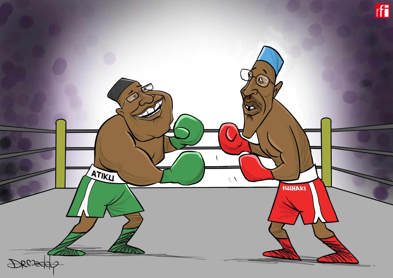 Shugaba Muhammadu Buhari da dan takarar babbar Jam'iyyar adawa Atiku Abubakar ne manyan 'yan takarar shugabancin kasa. (2019-02-15)