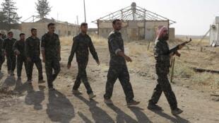 Căn cứ huấn luyện Serimli do Các Đơn Vị Bảo Vệ người Kurdistan kiểm soát, ở Qamishli, đông bắc Syria. Ảnh chụp ngày 16/08/2014