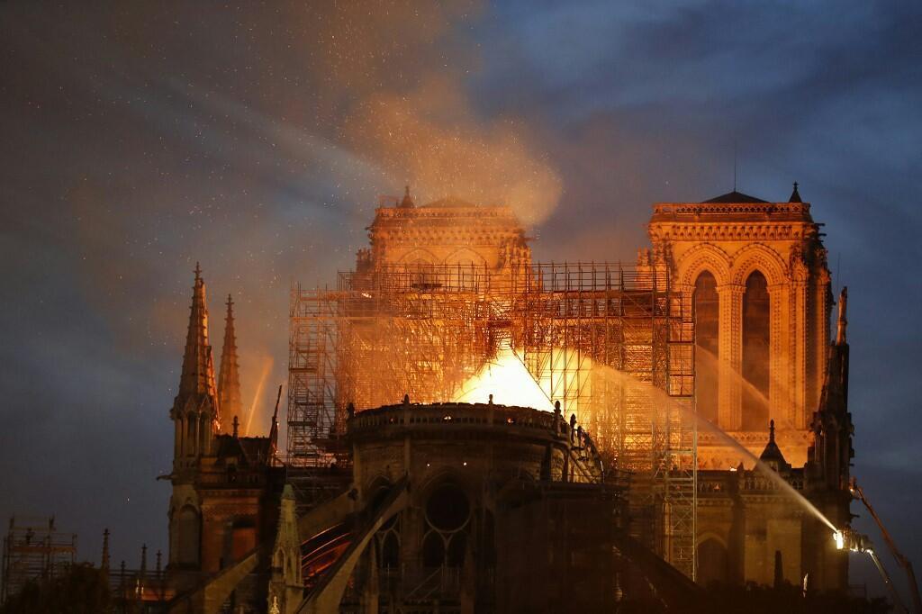 La Catedral de Notre-Dame en llamas, este 15 de abril de 2019.