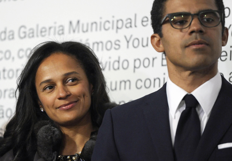 L'homme d'affaires et collectionneur d'art congolais Sindika Dokolo aux côtés de son épouse, Isabel dos Santos, fille du président angolais.