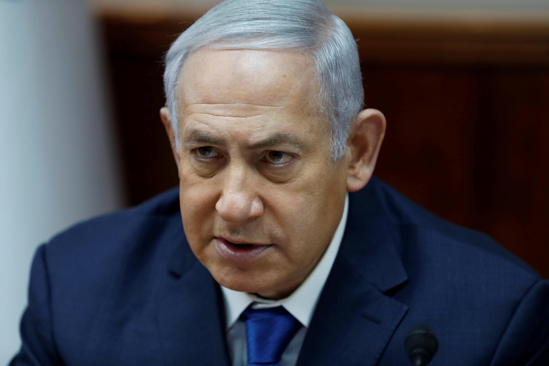 O Primeiro-ministro de Israel Benyamin Netanyahu em Jerusalém.16 de Dezembro de 2018