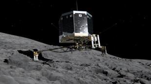 Philae, le robot laboratoire, s'est posé sur la comète Tchouri en novembre 2014