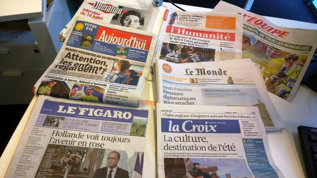 Diários franceses 15/07/2014