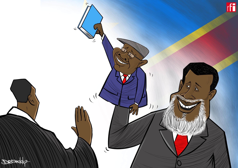 An rantsar da Felix Tshisekedi a matsayin sabon shugaban kasa da ya karbi karagar mulki daga  Joseph Kabila bayan gudanar da zabe mai sarkakiya (24/01/2019)