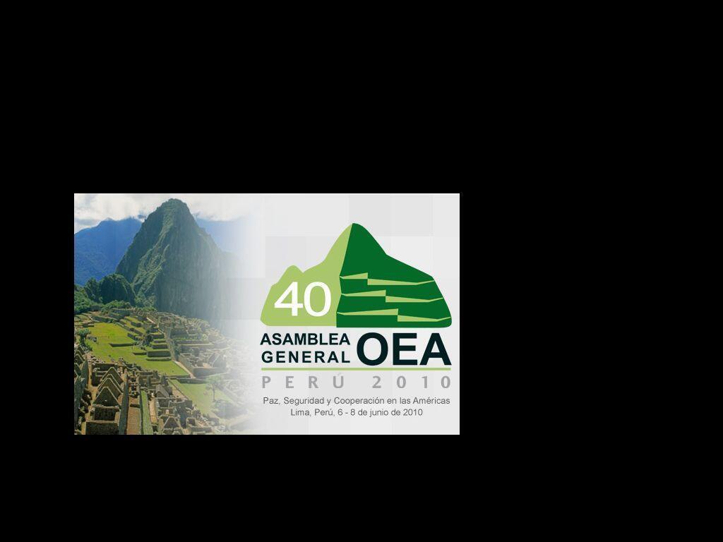 Os representantes dos 33 participantes da OEA se reúnem em Lima.