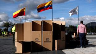 Colombia chuẩn bị các phòng phiếu cho cuộc bầu cử tổng thống ngày 27/05/2018.