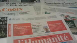 Primeiras páginas dos jornais franceses de 23 de setembro de 2019