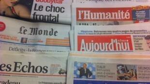 Primeiras páginas diários franceses 21/2/2013