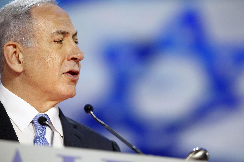 Benyamin Netanyahu, lors de son intervention à l'Aipac, à Washington, le 2 mars 2015.