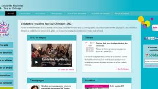 Site internet de l'association Solidarité nouvelles face au chômage (SNC).