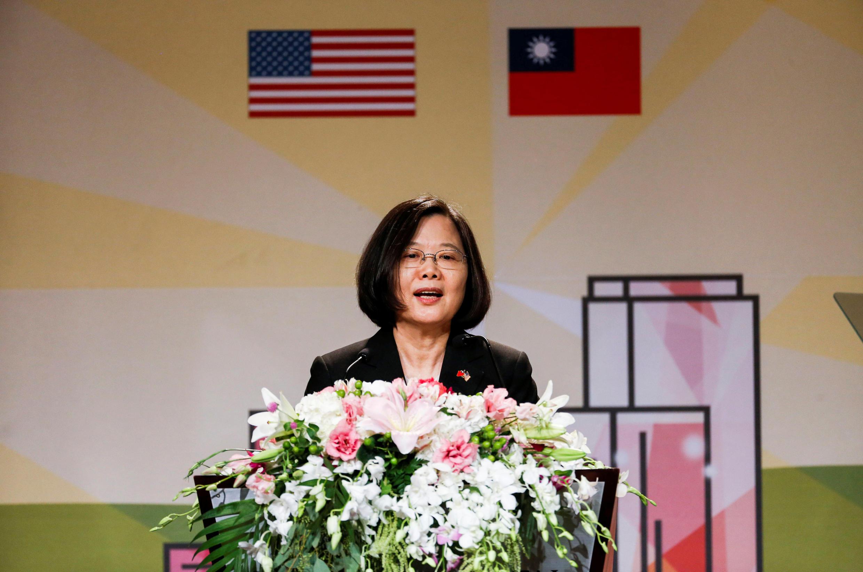 台湾中华民国总统蔡英文2018年8月12日过境美国时,在加州与海外侨胞会面。