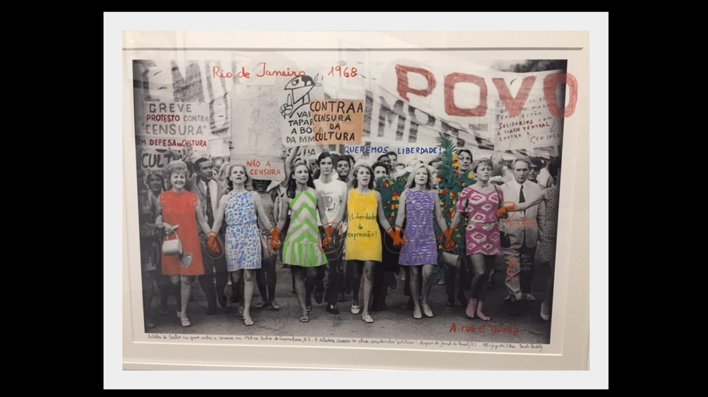 Foto de atrizes brasileiras contra a ditadura em imagem trabalhada pelo artista argentino Marcelo Brodsky.