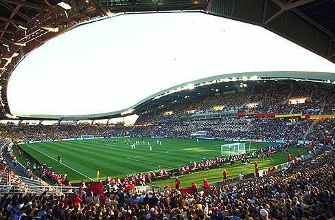 """Le stade de la Beaujoire """"Louis Fonteneau"""" à Nantes, lors de la coupe du Monde football de 1998."""
