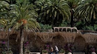 Antoni Gaudi's Park Guell in Barcelona has become a haven for local residents in the absence of tourists