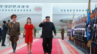 Lãnh đạo Bắc Triều Tiên Kim Jong Un trong một chuyến thăm Bắc Kinh, Trung Quốc. Bức ảnh được hãng tin Nhà nước KCNA công bố ngày 20/07/2018.