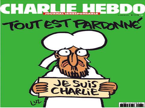 Capa da primeira edição pós-atentado do Charlie Hebdo