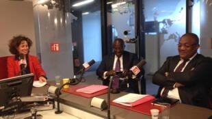 Emmanuelle Bastide, Didier Acouetey et Serge Diop
