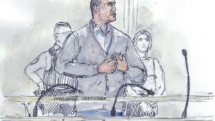 Christophe Dettinger au tribunal correctionnel de Paris, le 13 février 2019.