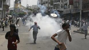 Waandamanaji nchini Yemen  wakipinga utawala wa rais Ali Abdullah Saleh