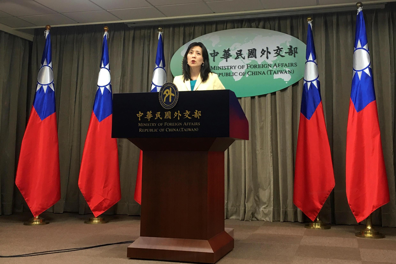 台湾外交部发言人在一次新闻发布会上 2020年2月11日