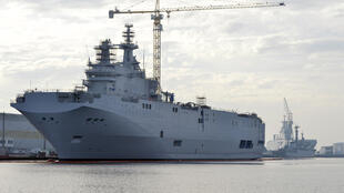 The Mistrals were being built in Saint-Nazaire in northern France, 21 November 2014.