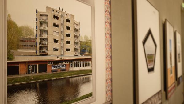 Vue de l'exposition « New Dutch Views », de Marwan Bassiouni, dans le cadre du Festival « Circulation(s) » au Centquatre, à Paris.