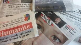 Primeiras páginas dos jornais franceses de 31 de maio de 2018