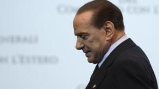 O primeiro-ministro italiano, Silvio Berlusconi.