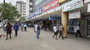 Vue extérieure d'un centre commercial à Nairobi, capitale du Kenya, le 15 mai 2017.