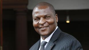 Le président centrafricain Faustin-Archange Touadéra, le 5 avril 2017.