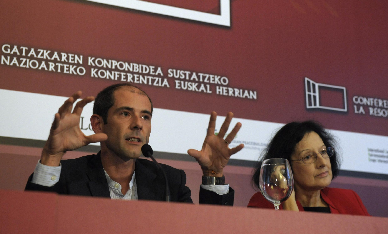 Участники конференции в Сан-Себастьяне: Пауль Риос и Сильвия Касале