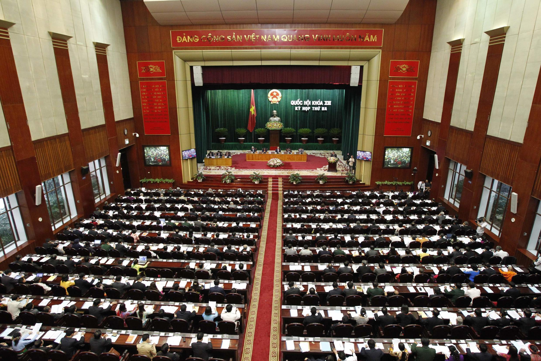 Toàn cảnh kỳ họp thứ 3 Quốc hội Việt Nam khóa 13.