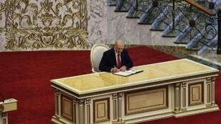 Rais wa Belarus Alexander Lukashenko, tarehe 23 Septemba 2020 huko Kiev.