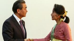 昂山素季4月5日会见中国外长王毅