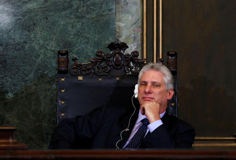 La ressemblance du nouveau président cubain, ici fin mars 2018, avec le comédien américain Richard Gere a souvent été mise en exergue.