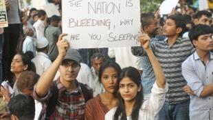 Protesta en Mumbai contra la ley de ciudadanía, considerada discriminatoria con los musulmanes.