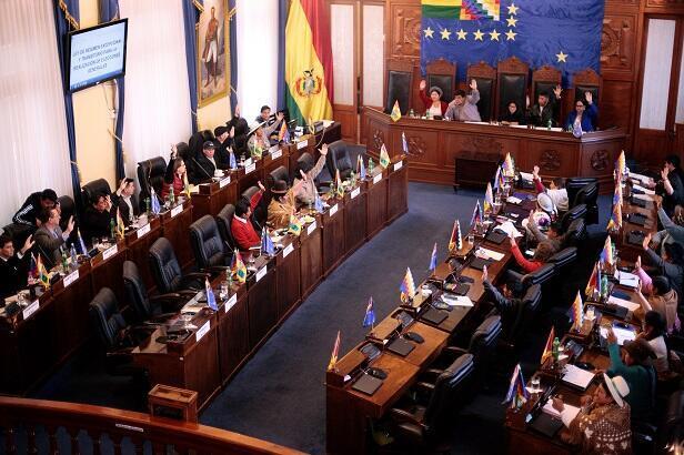 Các thượng nghị sĩ thông qua dự luật bầu cử ngày 23/11/2019 tại La Paz, Bolivia.