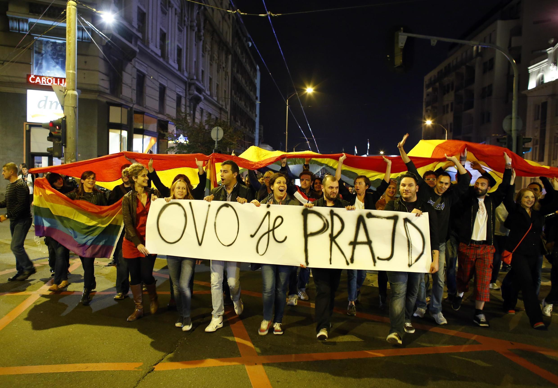 Марш активистов в ночь с 27 на 28 октября