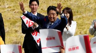 Thủ tướng Nhật  Shinzo Abe vận động bầu cử tại Fukushima ngày 10/10/2017.